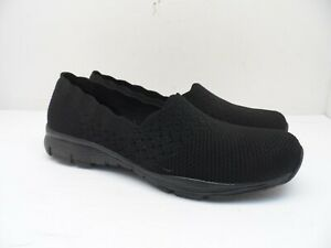 Skechers Women's Seager - Stat Casual Slip On 49481 Black Size 10M