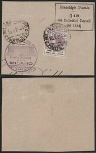 Italy 1924 - Used Stamp on Fragment Cassa Nazionale D106