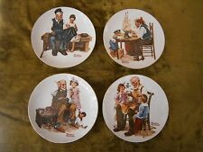 4 Rockwell Classics limited edition plates set of 4