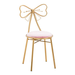 New Modern Minimalist Bow Net Red Makeup Stool Backrest Chair Bedroom Ins Nordic
