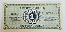 1 Franc ARMEE 1946  Army Belgisch leger Belgïe Choose Condition SUP/ FDC KM #M1