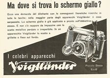 Y2486 Voigtlander - Ma dove si trova lo schermo giallo? - Pubblicità del 1942