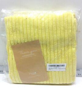 """Ashler Corduroy Soft Velvet Striped Throw Pillow Cases 20"""" x 20"""" Yellow 2 Pack"""