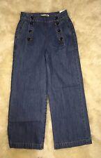 Nwt MADEWELL JCREW Rivet & Thread Sailor Wide Leg Crop Jeans Sz 26 $208 SOLDOUT