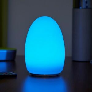 Auraglow Rechargeable Cordless Wireless Colour Changing LED Table Lamp – EGG