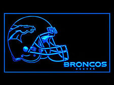 Denver Broncos Helmet LED Neon Sign Light NFL Football Sports Team Anniversary