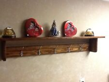 "Handmade Wall Mount 47"" Hat And Coat Rack Early American mixed material handmade"