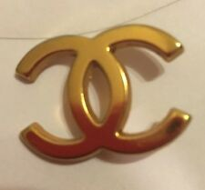 "Chanel Gold CC Hanger Logo Charm Metal 1 1/4"""