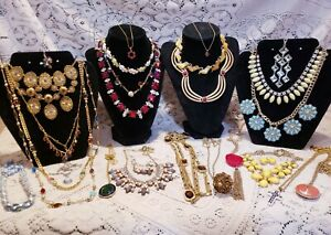 24 Piece Modern and Vintage Colorful Mixed Necklace Lot