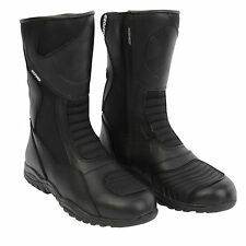 Oxford Cherokee Motorcycle Motorbike Leather Touring Waterproof Boots Black - T
