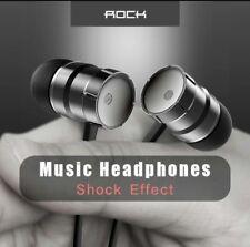 New Rock In-ear Stereo Earphone Headset 3.5mm with Mic Earbuds  UK seller