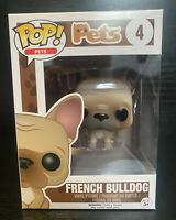 Funko Pop! Pets- DOGS French Bulldog #4 Funko Pop Vinyl Figurine #VAULUTED #RARE