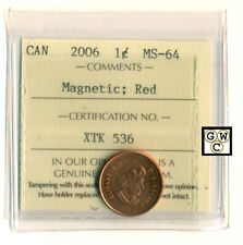 ICCS - Canada 2006 1ct Coin; MS-64 ; Magnetic ; Red ; Certification No.- XTK 536