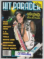 HIT PARADER December 1989 AEROSMITH Metal Church Tangier Bad English Blue Murder