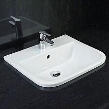 RAK Series 600 2 Tap Hole White Inset Vanity Bowl Basin 500mm 20 Years Warranty