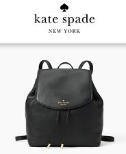 NWT Kate Spade Small Breezy Black Leather Backpack Bag