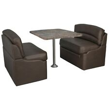 """40"""" Dinette booth Set With Table and Legs for RVs (Chestnut, Luna imperial)"""