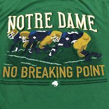 "Notre Dame Football 2XL XXL 2018 ""The Shirt"" No Breaking Point Men's Green"