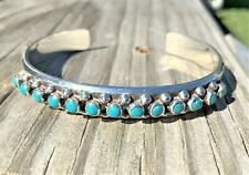 Sterling Snake Eye Turquoise (Fred Harvey Era)Cuff Bracelet