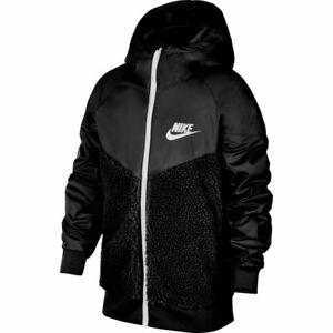 Nike Sportswear Sherpa Winterized Windrunner Boy's Size Small   (CQ4292-010)