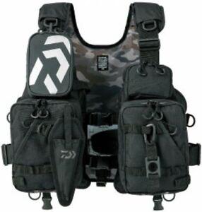DAIWA Fishing Float Game Vest Life Preserver Jet Black DF-6206 Free Size