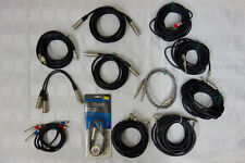 Lot XLR - 1/4 - RCA - Professional Grade Stereo Audio Interconnect Wires MOGAMI