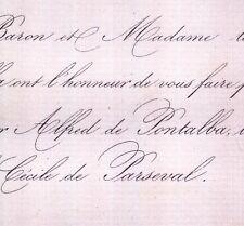 Alfred Delfau De Pontalba Paris 1859 Cécile De Parseval