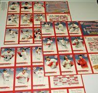 2004 Set of 3 Boston Red Sox McDonalds Promotional Baseball Card Sheet