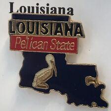 LOUISIANA State Enamel Pelican Lapel Hat Pin