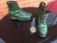 VINTAGE Dr Martens 1460 RACING GREEN Stivali UK 7 EU 41 Pelle Punk Inghilterra kawaii