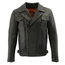Milwaukee Leather Men's Motorcycle Jacket W/ Dual Side Utility Pocket **LKM1760