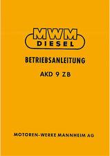 Notice d'instructions MWM AKD 9 ZB
