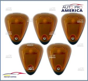 (5)OEM FORD F250 F350 F450 Super Duty Roof Cab Clearance Lamp Markers 6C3Z15442A