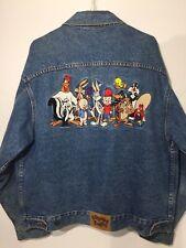 Vintage LOONEY TUNES Embroidered Denim JEAN JACKET 1993 - Never Worn - LARGE