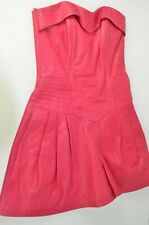 Neto Leather Romper Sz Small Hot Pink Strapless Party Vintage Back Zip Boho Fun