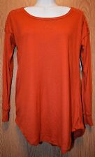 Womens Rust Orange French Laundry 3/4 Sleeve Shirt Size Small NWT NEW