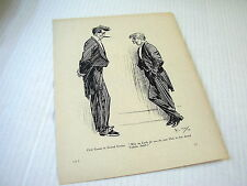 "OLD PAGEPRINT~CARTOON ABOUT ""ABSURD HAIR FASHION""~SIGNED PHIL MAY~ca. 1898"