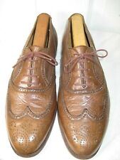 Paul Stuart Brown Leather Brogue Oxford Dress Shoes Men Size 11 M Made In ITALY.