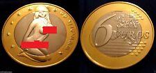 SEX EUROS COIN Gold Silver Girl Risque Nude Naked Token Novelty Brexit Lady BoJo