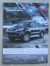 TOYOTA HILUX SR5 TURBO DIESEL 4x4 Car Auto Magazine Page Sales Ad Advertisement