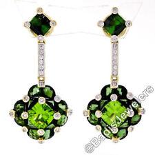 Orecchini di lusso con gemme farfalline verde Tormalina