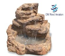 Universal Rock Self-Contained Waterfall Pond Water Garden Decor use 500 GPH PUMP
