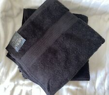 Ralph Lauren Wescott Bath Towels Set Of 2 Black 30x56in