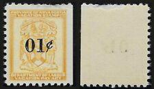 Van Dam NSV1: 1c Nova Scotia Vacation Pay stamp (thinned at top) - F-VF-NH
