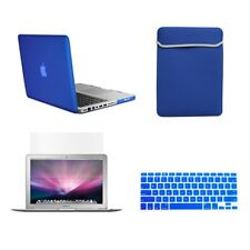 """4 in1 Rubberized ROYAL BLUE Case for Macbook PRO 15"""" + Key Cover+LCD Screen+Bag"""