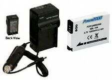 Battery +Charger for Samsung PL60 PL65 SL102 SL202 PL70