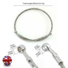NEW 80cm Universal Motorcycle Replacement Braided Brake Oil Hose Line
