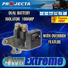 PROJECTA VSR100 12V 100AMP DUAL BATTERY SYSTEM ISOLATOR OVERRIDE FEATURE,12 VOLT