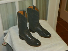 Justin Roper Dark Gray Leather Cowboy Boots Size 4 B Style L3056 made in USA