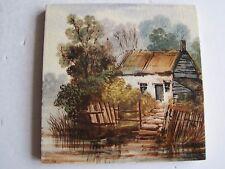 """Antico Vittoriano dipinti a mano 6"""" SCENIC vista Tile"""